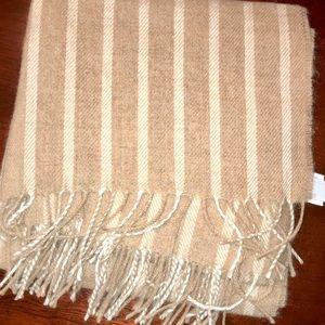 nwt jcrew striped wool scarf k1611